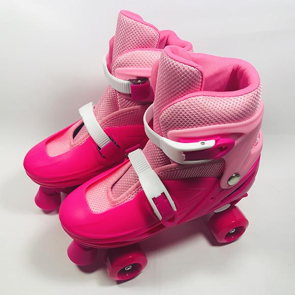 Giày patin 4 bánh Inline hồng hình 1