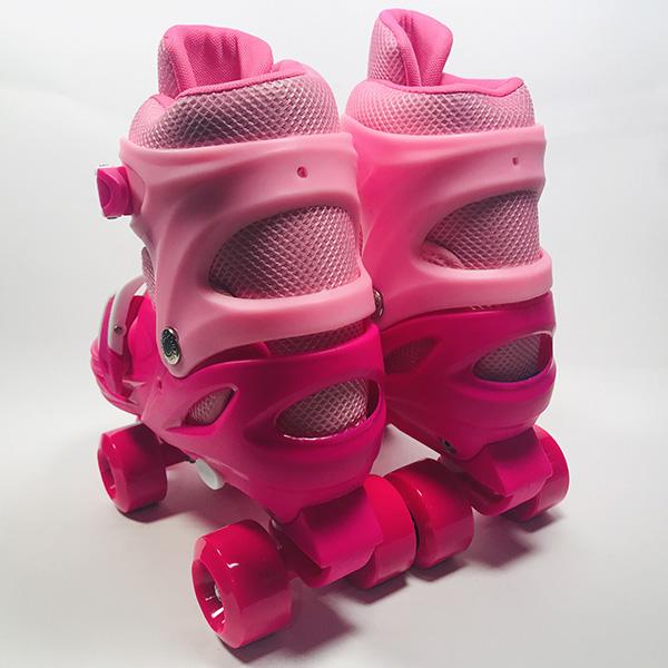 Giày patin 4 bánh Inline hồng hình 2
