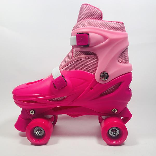 Giày patin 4 bánh Inline hồng hình 3
