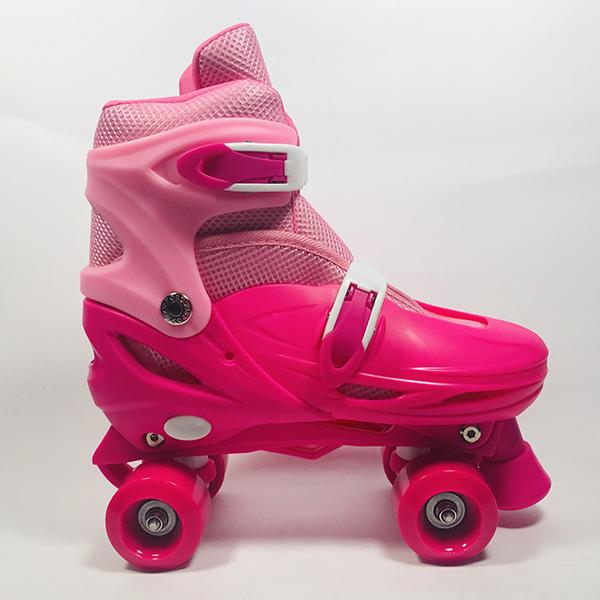 Giày patin 4 bánh Inline hồng hình 4
