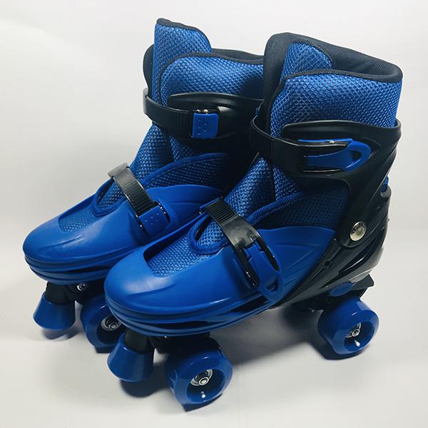 Giày patin 4 bánh Inline xanh hình 1