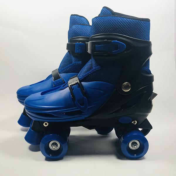 Giày patin 4 bánh Inline xanh hình 2