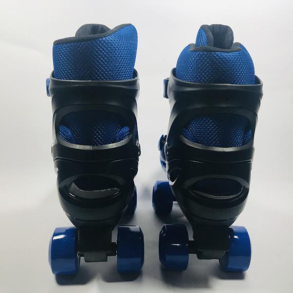 Giày patin 4 bánh Inline xanh hình 3
