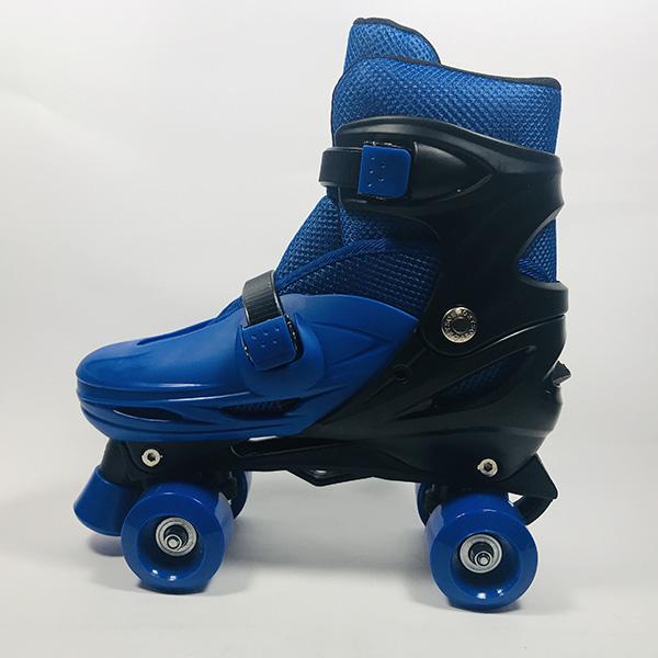 Giày patin 4 bánh Inline xanh hình 4