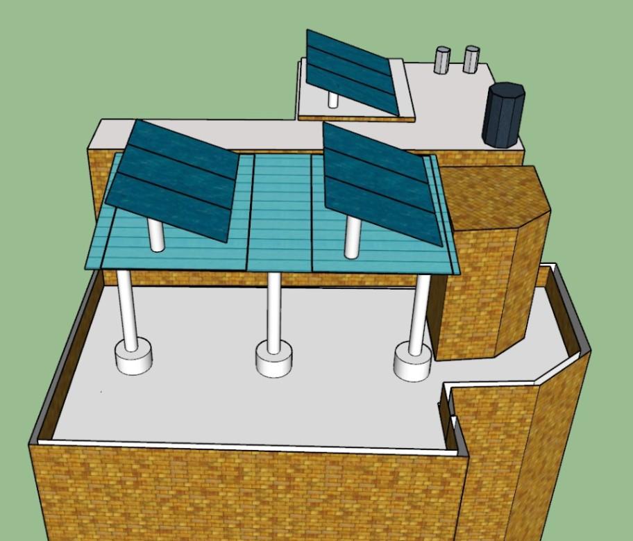 Rooftop solar 3D model