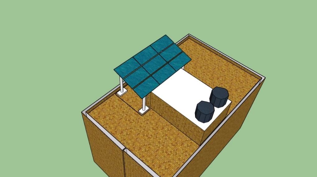 Solar rooftop 3D model