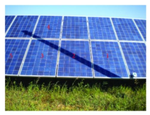 solar panel under shade creates hotspot