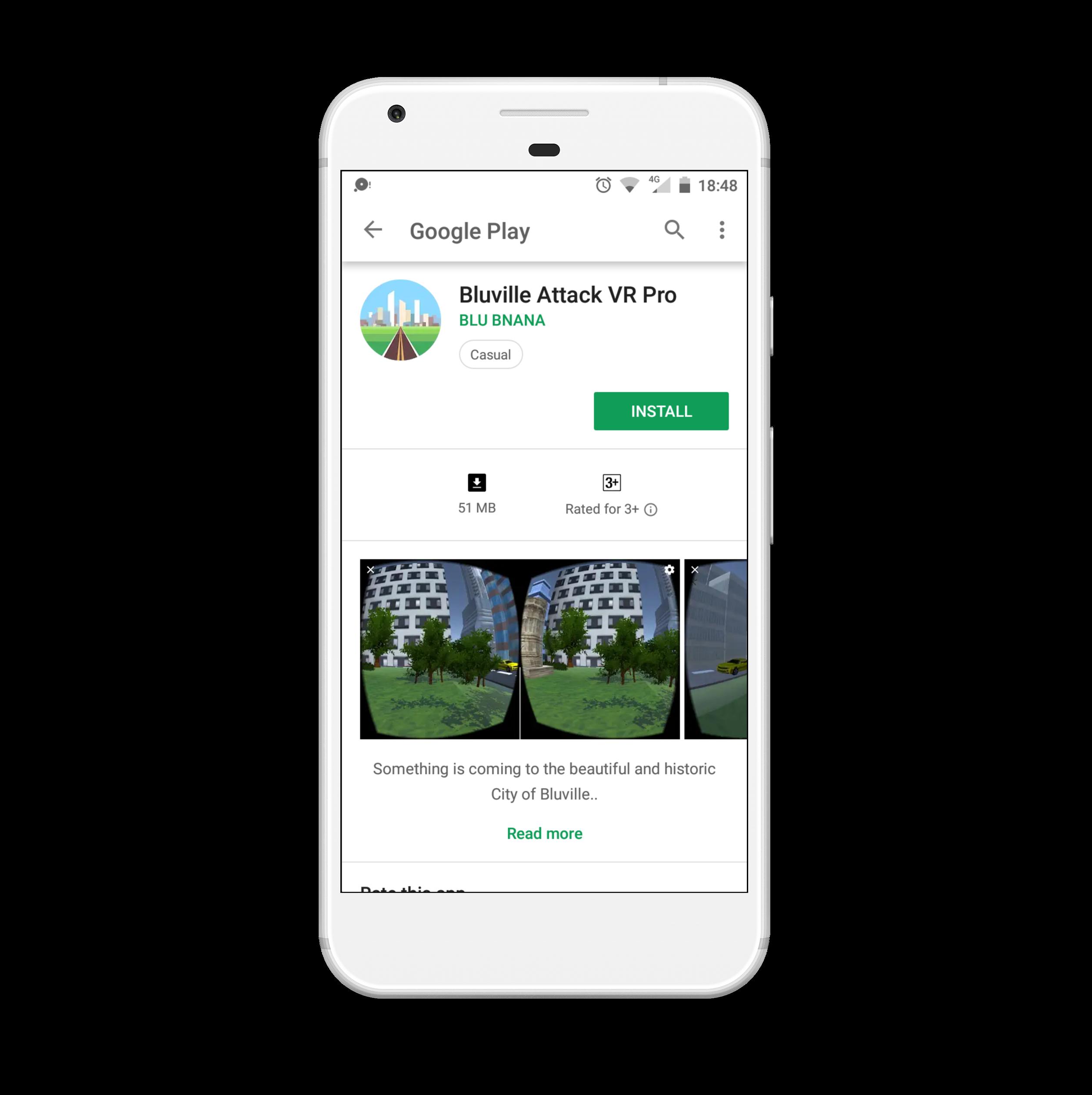 Blu Ville Attack VR Android App