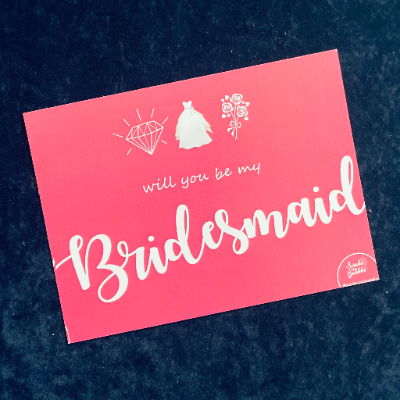 Bridesmaid gift card