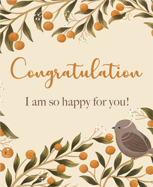 Congratulations I am so Happy For You - KHHY