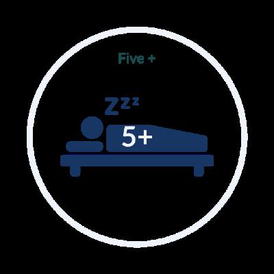 Five + Bedrooms