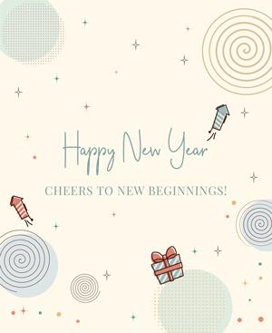 Happy New Year Cheers to New Beginning! - HNYB