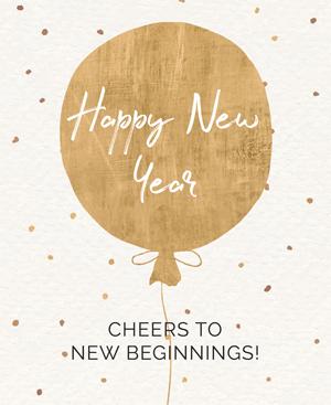 Happy New Year Cheers to New Beginning!