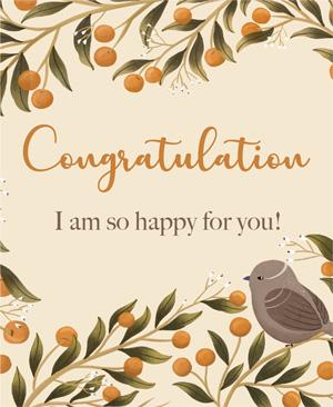 Congratulations I am so Happy For You KHHY