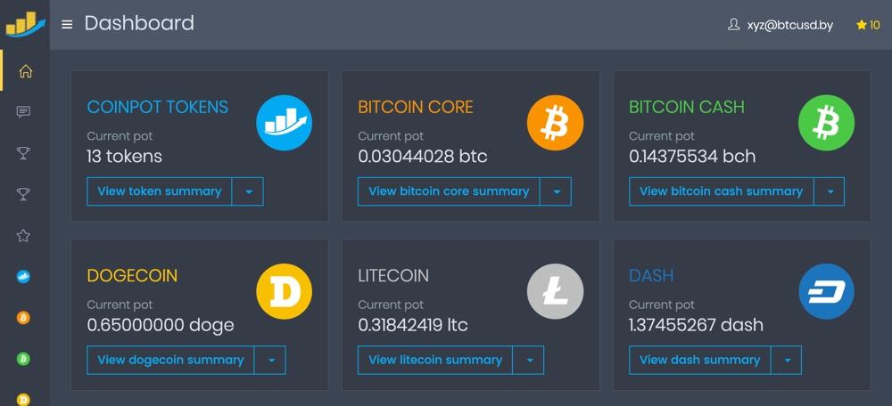 Бесплатные криптовалюты на CoinPot