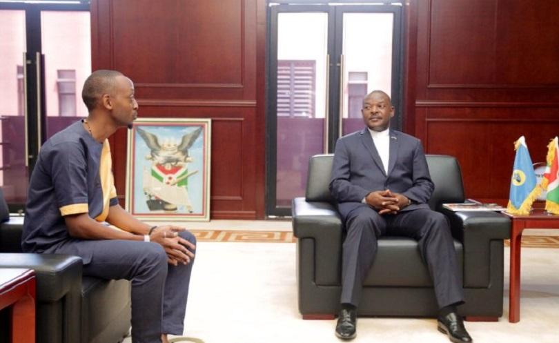 Mickael Sengazi avev S.E Pierre Nkurunziza