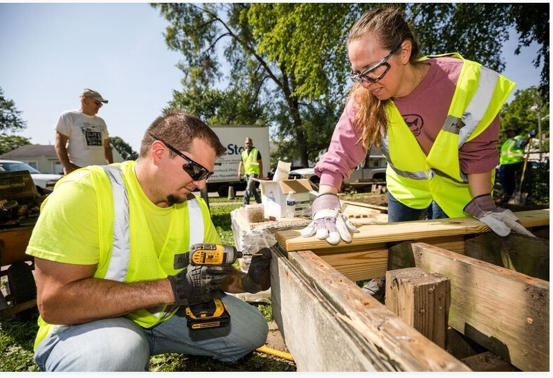 "Edw. C Levy and Cadillac Asphalt partners with ""Habitat for Humanity"" in Levy's Centennial Year"