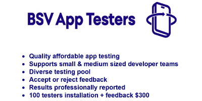 Affordable App Testing - BSV App Testers