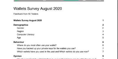 Results - BSVAppTesters.com Wallet Survey August 2020 Results