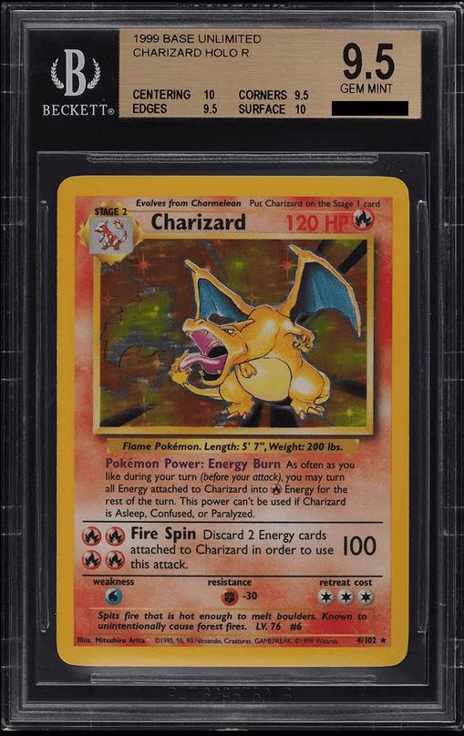 1999 Pokemon Game Charizard Holo BGS 9.5