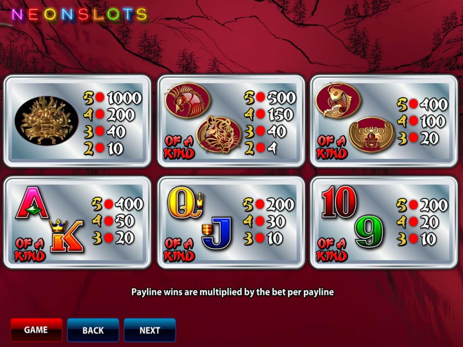 50 Dragons slot game