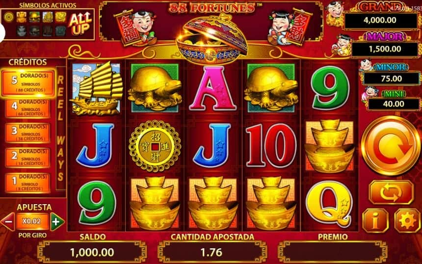 88 Fortunes slot game