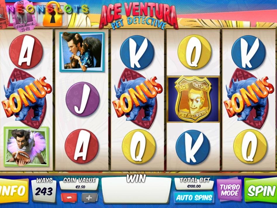 Ace Ventura slot game