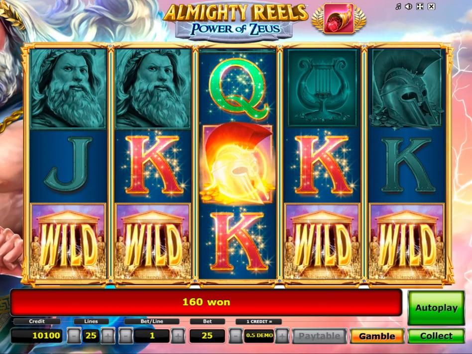 Almighty Reels Power of Zeus slot game