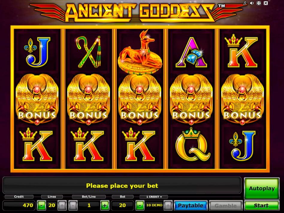 Ancient Goddess slot game