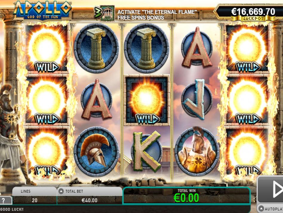 Apollo God of The Sun slot game