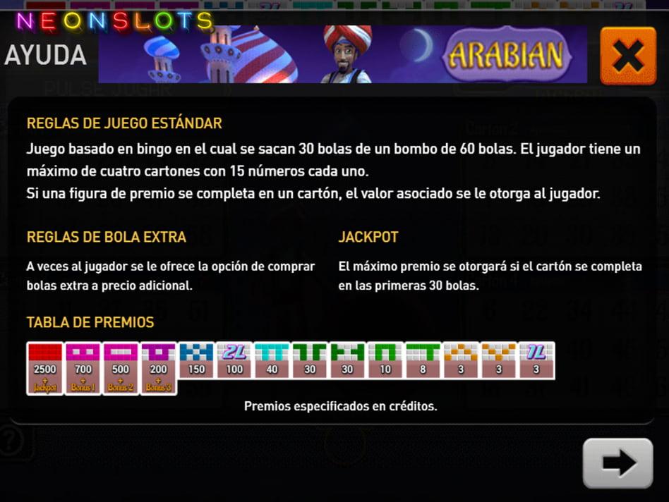 Arabian Bingo slot game