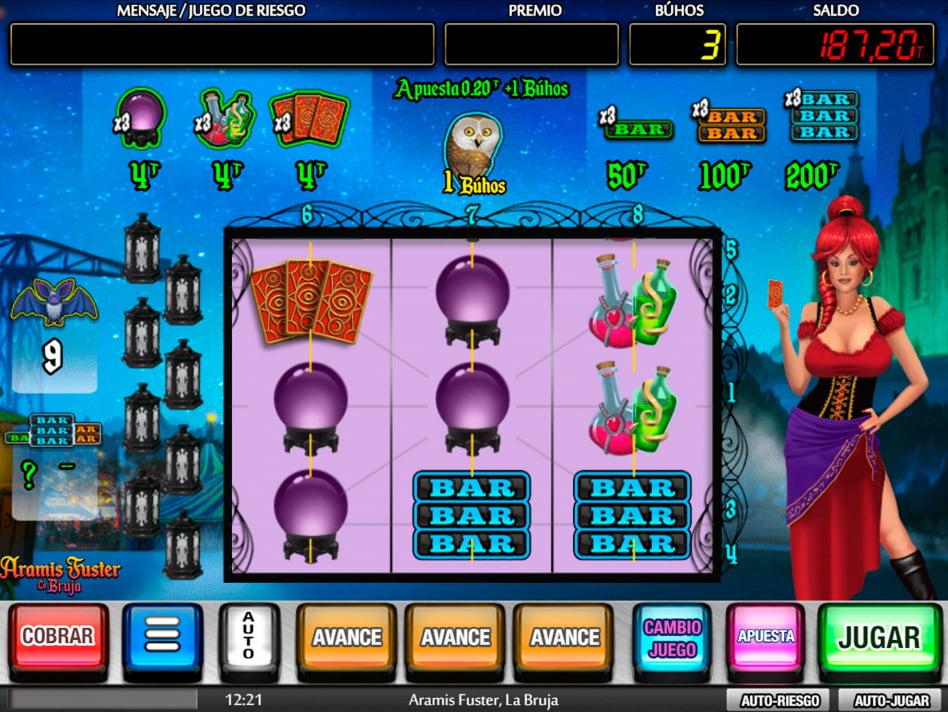 Aramis Fuster La Bruja slot game