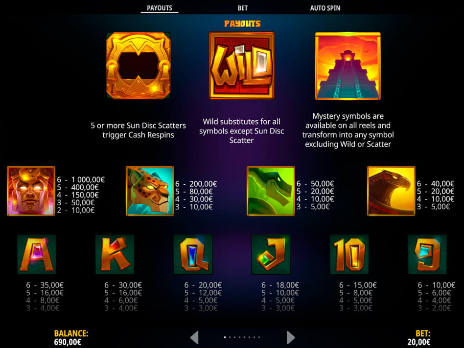 Aztec Gold Extra Gold Megaways slot game