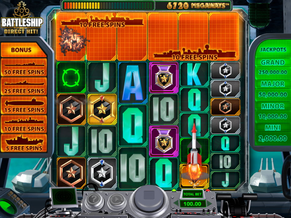 Battleship Direct Hit slot game