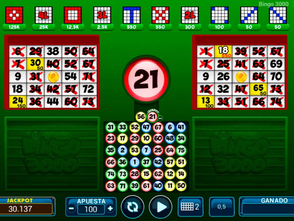Bingo 3000 slot game