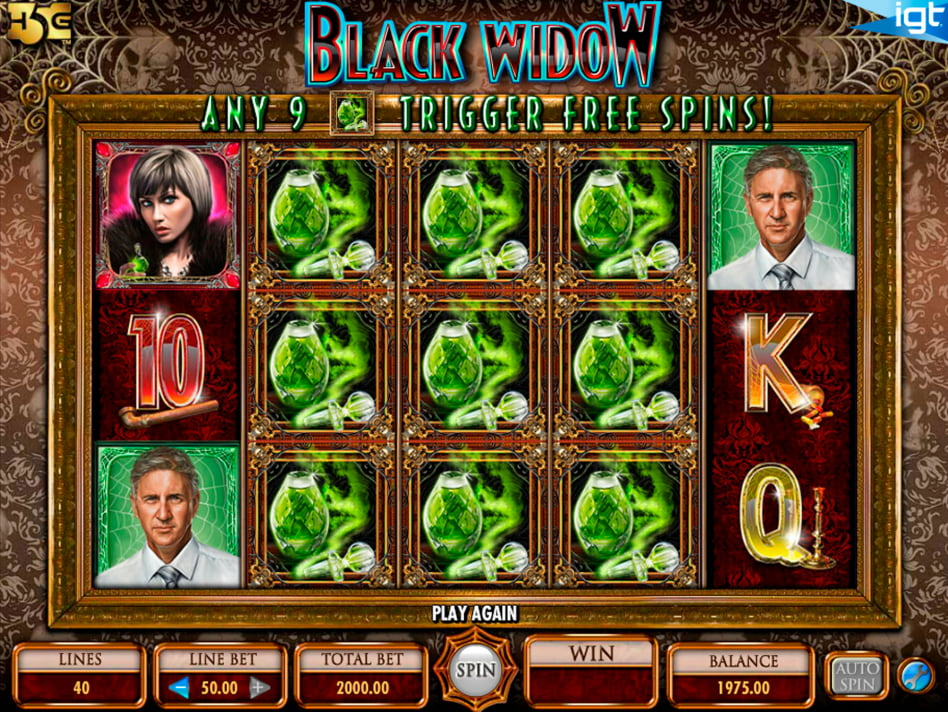 Black Widow slot game