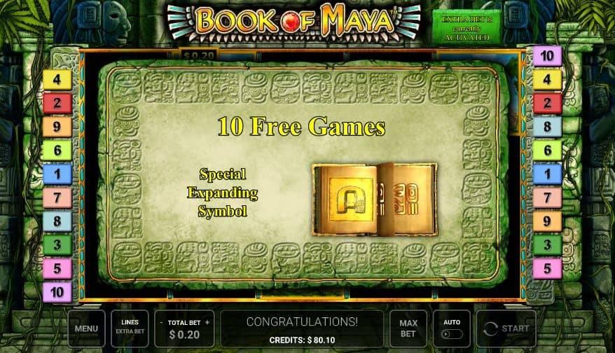 Book of Maya slot game