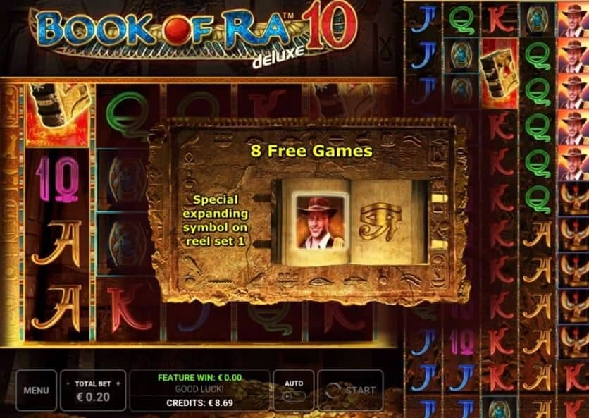 Book of Ra Deluxe 10 slot game