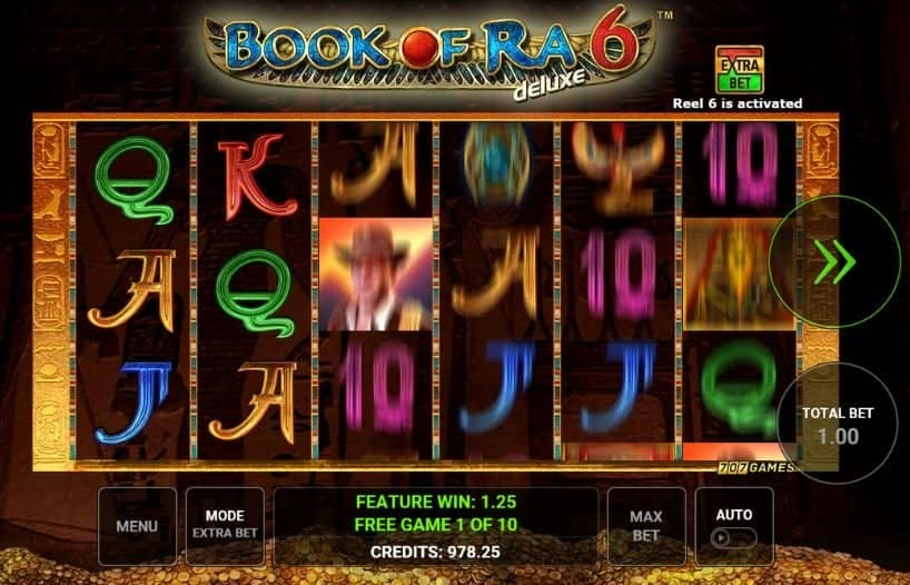 Book of Ra deluxe 6 slot game