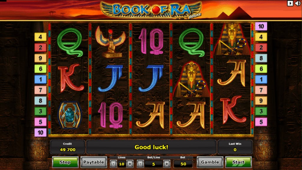 Book of Ra deluxe slot game