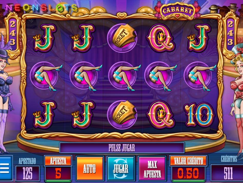Cabaret slot game