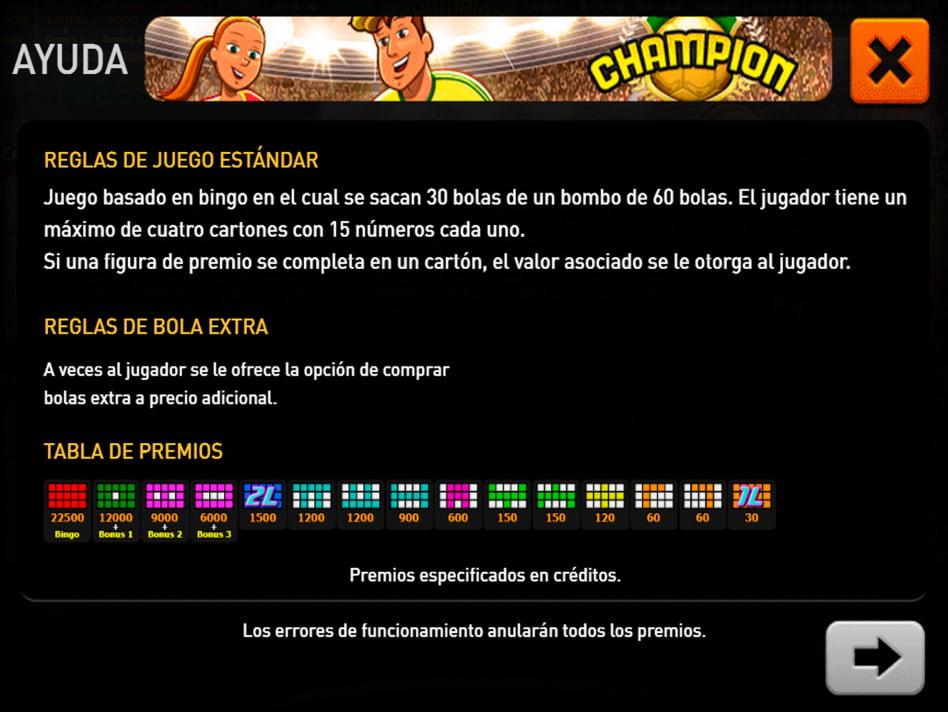 Champion slot game