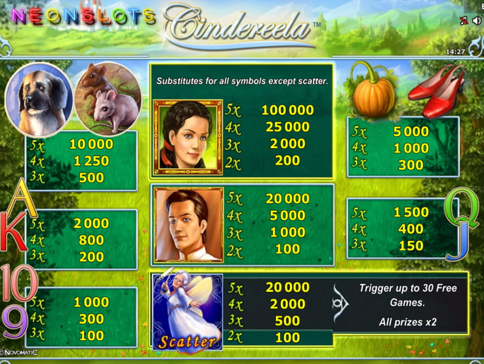 Cindereela slot game