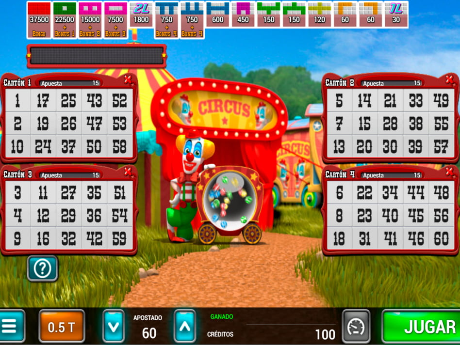 Circus Bingo slot game