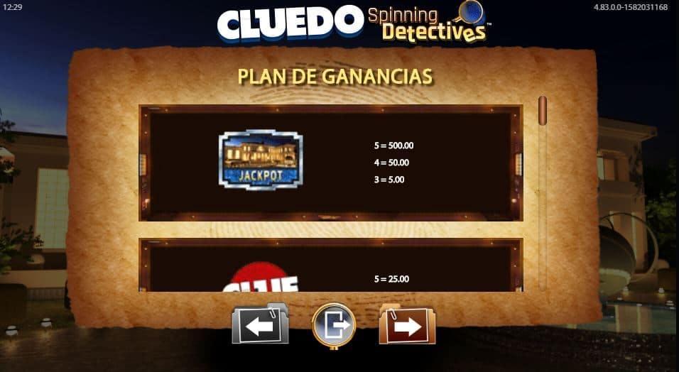 Cluedo Spinning Detectives slot game