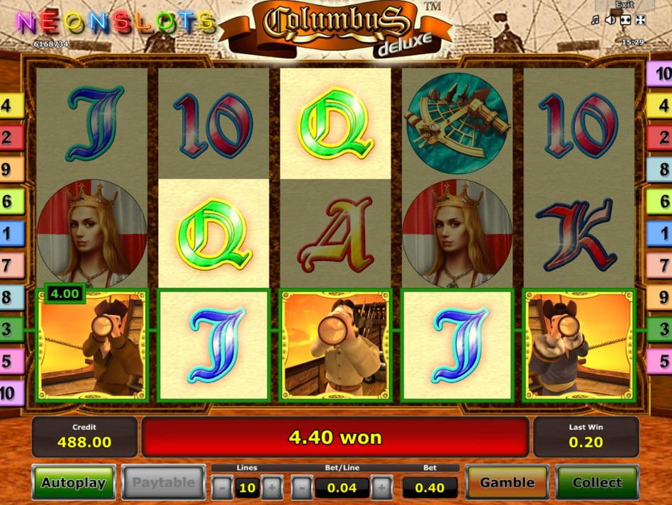 Columbus deluxe slot game
