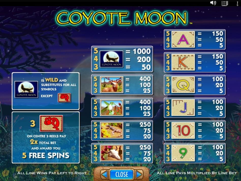 Coyote Moon slot game