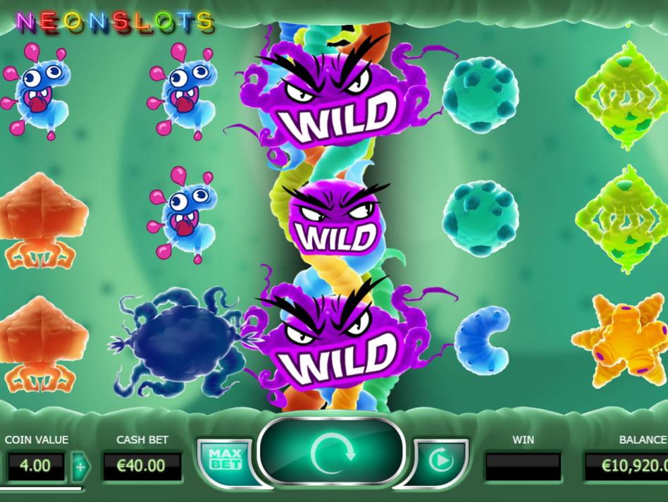 Cyrus the Virus slot game