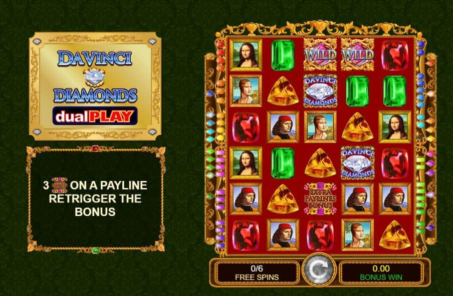Da Vinci Diamonds Dual Play slot game
