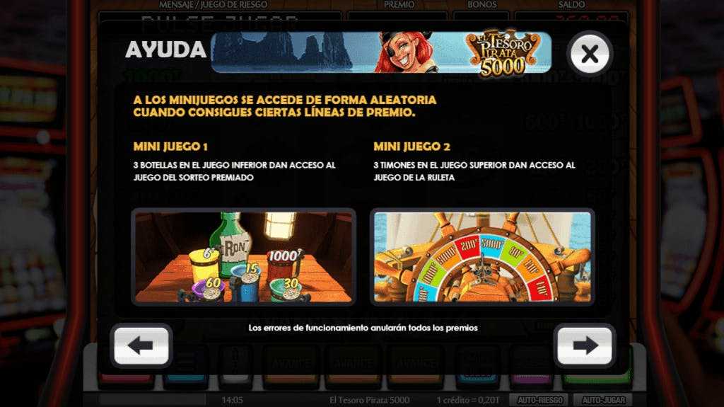 El Tesoro Pirata 5000 slot game